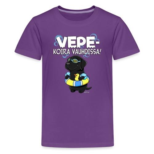 vepevauhti3 - Teinien premium t-paita