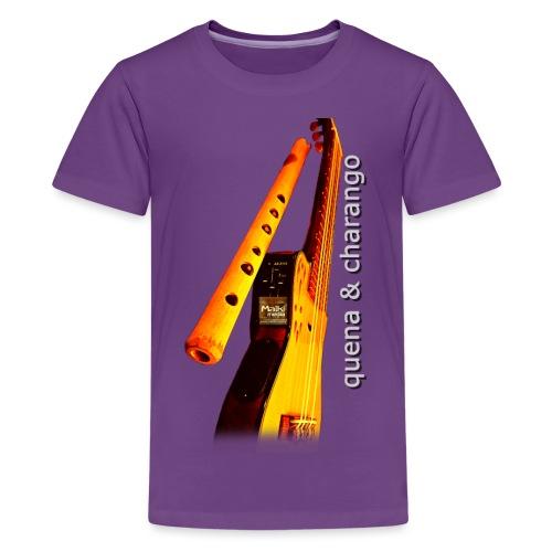 Quena y Charango II - Camiseta premium adolescente