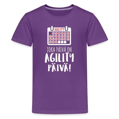 Joka Päivä Agility - Teinien premium t-paita