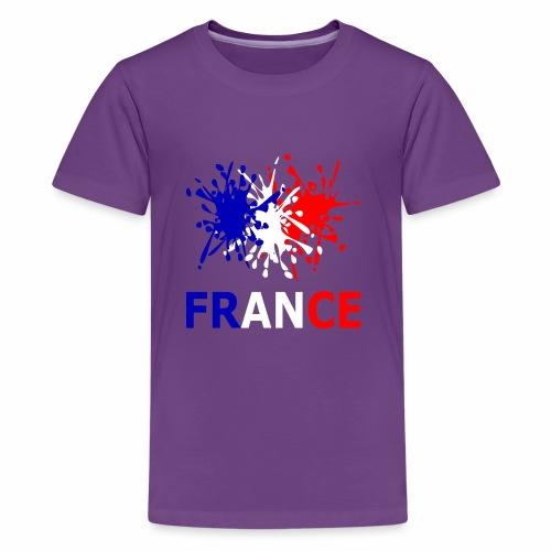 France - red white blue - Teenage Premium T-Shirt