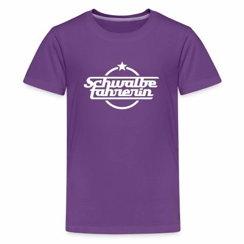 Schwalbefahrerin - Teenage Premium T-Shirt