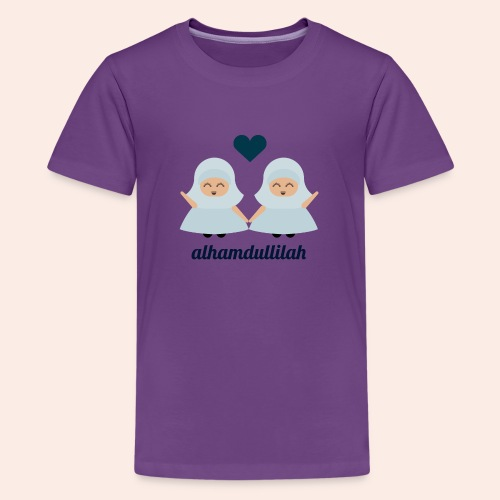 Twin Alhamdullilah - Teenager Premium T-Shirt