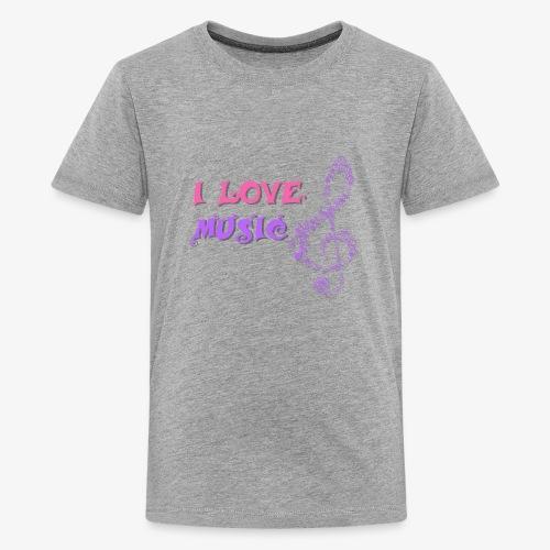 Love Music - Camiseta premium adolescente