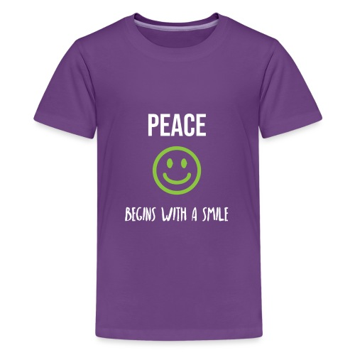 Peace Begins with a Smile - Teenage Premium T-Shirt