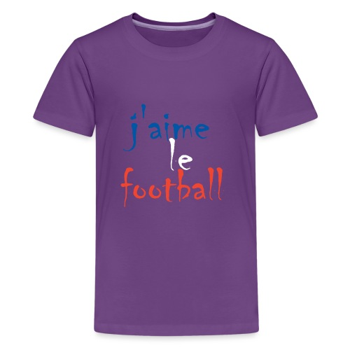 j' aime le football - Teenager Premium T-Shirt