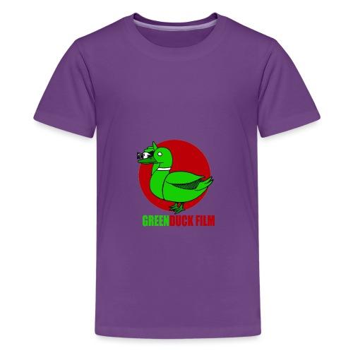Greenduck Film Red Sun Logo - Teenager premium T-shirt