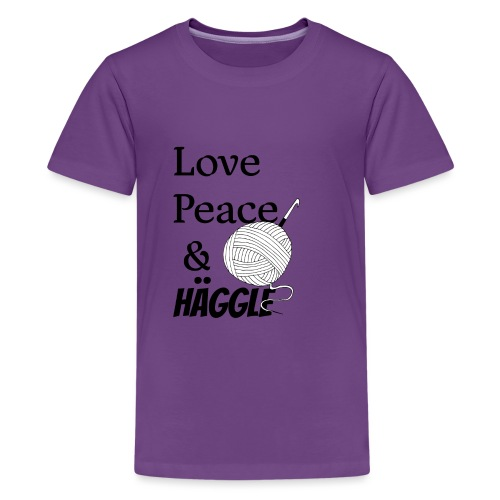 Love Peace & Häggle - Teenager Premium T-Shirt