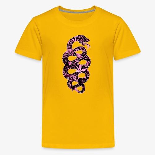 Flower Snake IV - Teinien premium t-paita