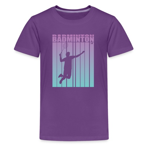 Badminton Jump Smash - Teenage Premium T-Shirt