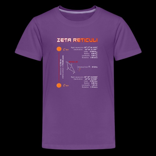 Zeta Reticuli - Teenager Premium T-Shirt