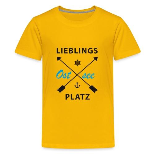 Lieblingsplatz Ostsee - Teenager Premium T-Shirt