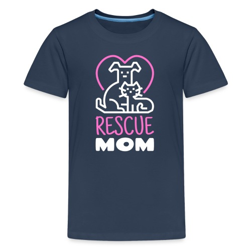Rescue Mom - Teinien premium t-paita