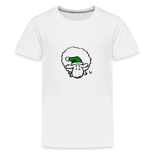 Weihnachtsschaf (grün) - Teenager Premium T-Shirt
