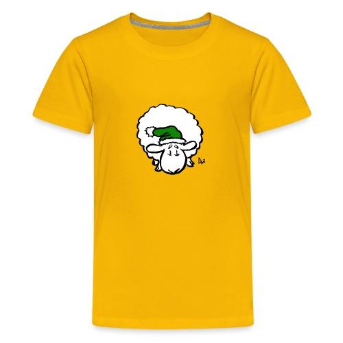 Santa Sheep (green) - Teenage Premium T-Shirt