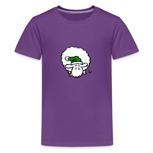 Santa Sheep (green) - Premium T-skjorte for tenåringer