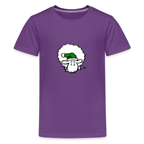 Santa Sheep (green) - Teenage Premium T-Shirt