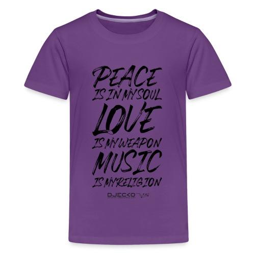 Djecko blk - T-shirt Premium Ado