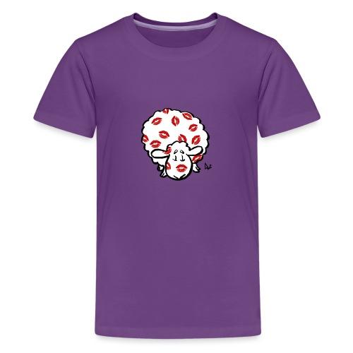 Kiss Ewe - Premium T-skjorte for tenåringer