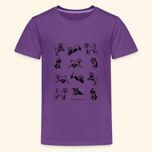 Brussels Griffon pattern - T-shirt Premium Ado