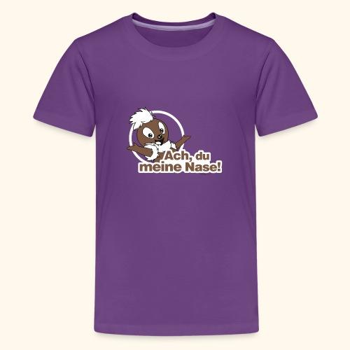 Pittiplatsch Ach, du meine Nase 2D - Teenager Premium T-Shirt