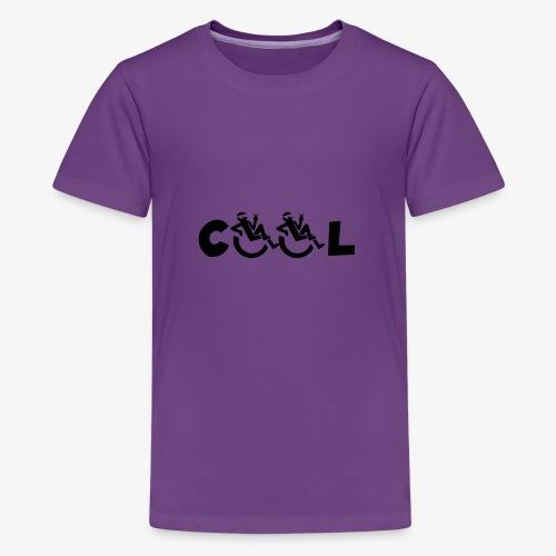 Cool rolstoel gebruiker 002 - Teenager Premium T-shirt
