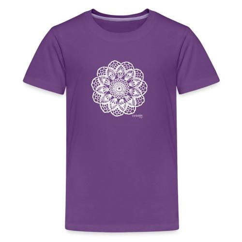 Granny´s Flower, valkoinen - Teinien premium t-paita