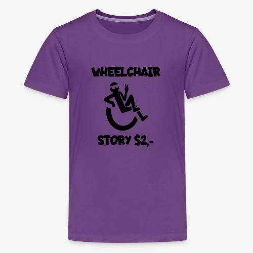 Rolstoel verhaal 001 - Teenager Premium T-shirt