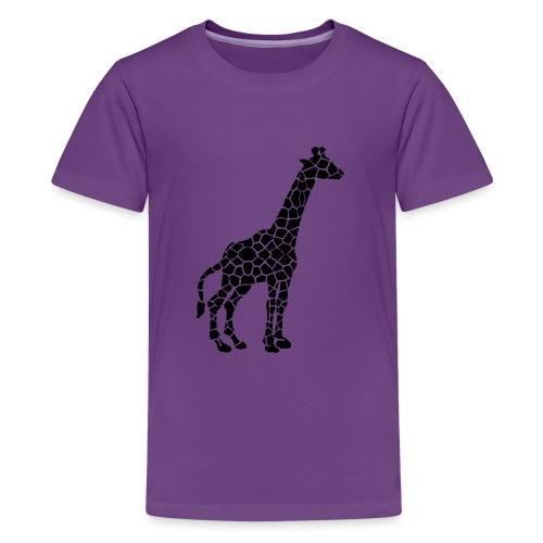 Giraffe (black) - Teinien premium t-paita