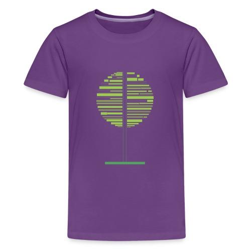 Zielone drzewo - Koszulka młodzieżowa Premium