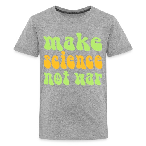 yellowibis sciencenotwar vec - Teenage Premium T-Shirt