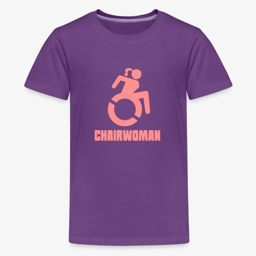 Rolstoel vrouw, chairwoman, dame in rolstoel, roll - Teenager Premium T-shirt