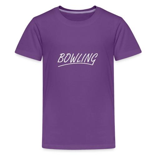 Bowling souligné - T-shirt Premium Ado