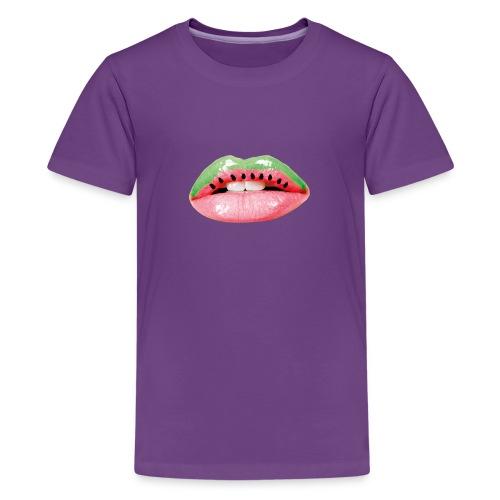 Melon Strawberry Lips - Teenager Premium T-Shirt