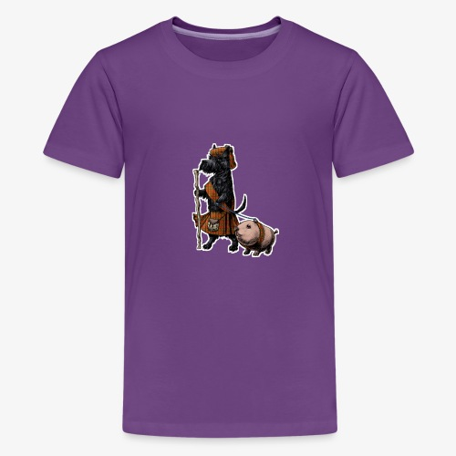 Scottie and Haggis dark t - Teenage Premium T-Shirt