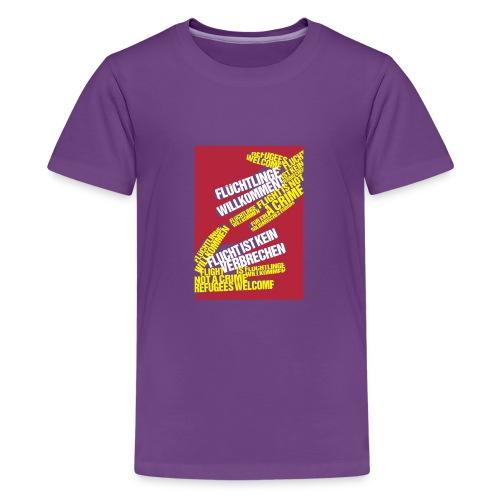Flüchtlinge Willkommen r - Teenager Premium T-Shirt