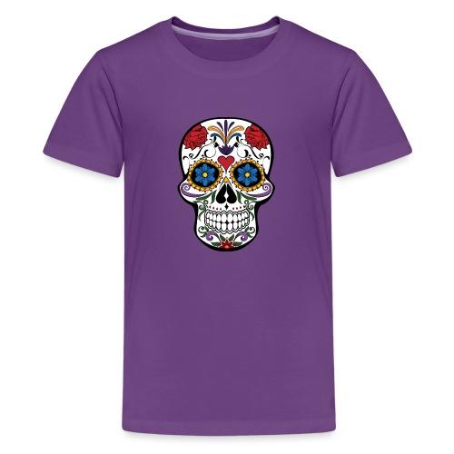 skull feminin - T-shirt Premium Ado