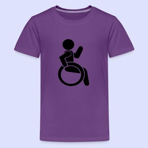 Zwaaiende rolstoel gebruiker 001 - Teenager Premium T-shirt