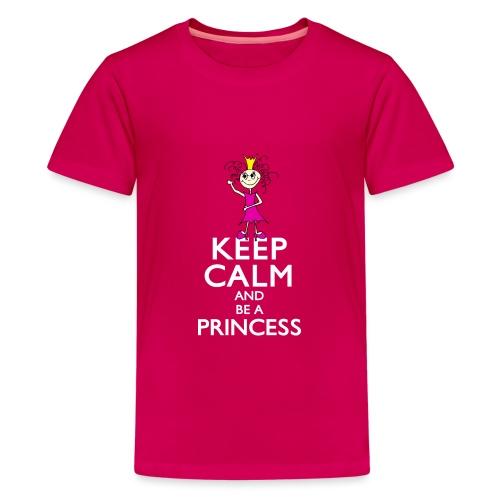 Keep calm an be a princess - Teenager Premium T-Shirt
