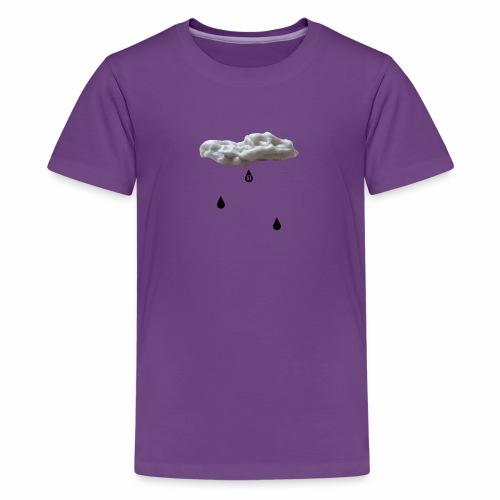 Nuvola con gocce nere - Maglietta Premium per ragazzi