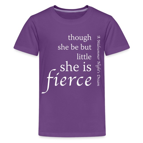 though-she-be-little-0 - Teenage Premium T-Shirt