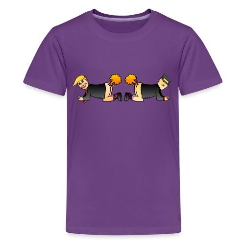 Trump Kim Logo - T-shirt Premium Ado