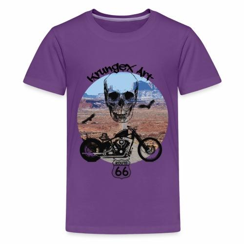 Skull Route - Maglietta Premium per ragazzi