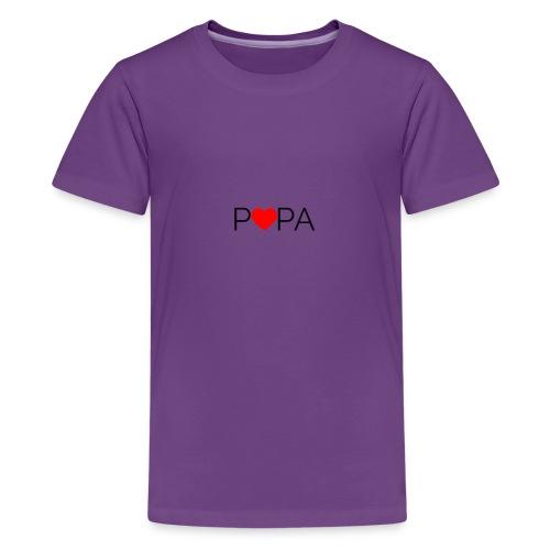 Papa tekst. Laat elke vader zich speciaal voelen - Teenager Premium T-shirt