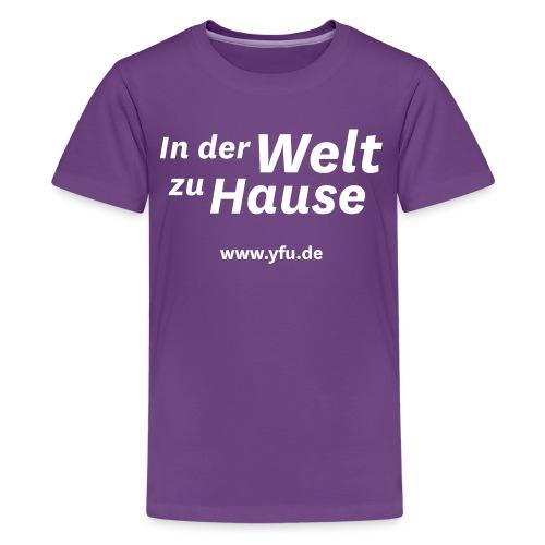 YFU_Logo_RS_weiss - Teenager Premium T-Shirt