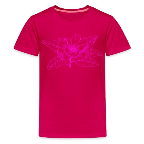 Camisetas y accesorios de flor color rosada - Camiseta premium adolescente