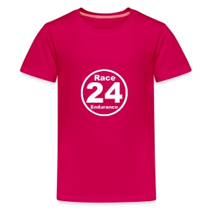 Race24 round logo white - Teenage Premium T-Shirt
