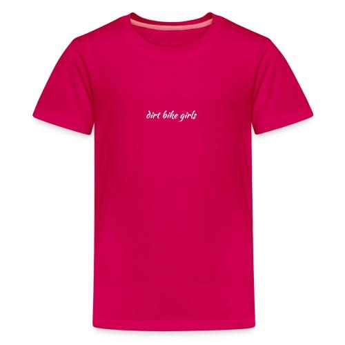 dirt bike girls logo - Premium T-skjorte for tenåringer