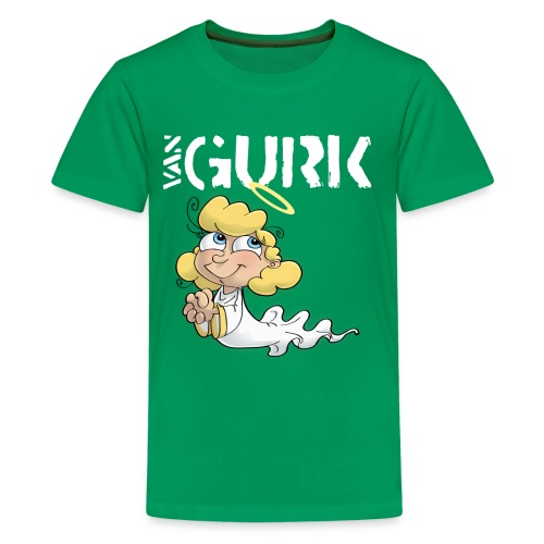 VAN GURK Engerl mit Logo WEISS - Teenager Premium T-Shirt