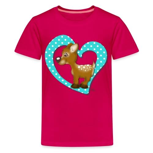 Kira Kitzi Aqua - Teenager Premium T-Shirt
