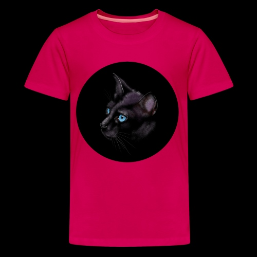 Black Cat - Teenage Premium T-Shirt